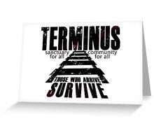Terminus Tracks Greeting Card