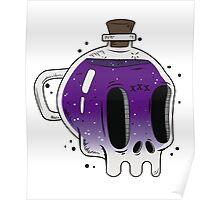 Skull bottle Poster
