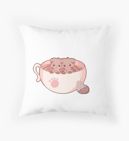 teacup pups! Throw Pillow
