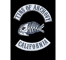 Tins of Anchovy on Black Photographic Print