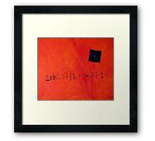13th July 2060 Framed Print