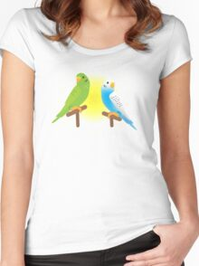 Two budgies Women's Fitted Scoop T-Shirt