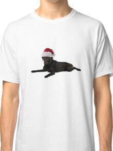 Black Lab Santa Claus Merry Christmas Classic T-Shirt