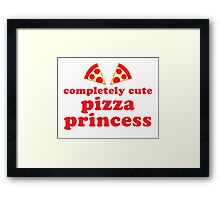 Completely cute pizza princess Framed Print