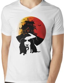 Haunted House Mens V-Neck T-Shirt