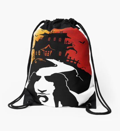 Haunted House Drawstring Bag