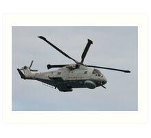 Royal Navy Merlin Helicopter Art Print
