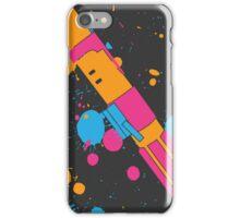 Darth Vader Lightsaber Paint Splatter (Full Color) iPhone Case/Skin