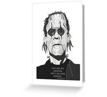 Frankenstein Alice Greeting Card