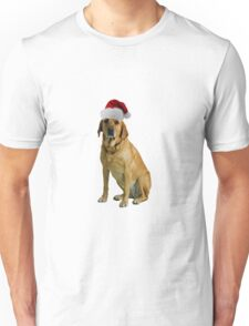 Yellow Lab Santa Claus Merry Christmas Unisex T-Shirt