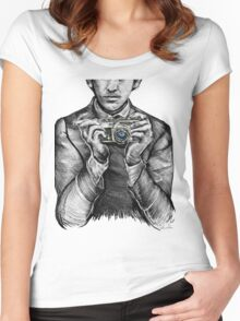 60s Hamburg Selfie Women's Fitted Scoop T-Shirt