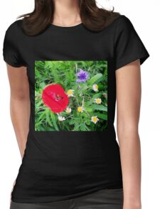 Wildflowers in the Park Womens Fitted T-Shirt