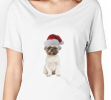 Lhasa Apso Santa Claus Merry Christmas Women's Relaxed Fit T-Shirt