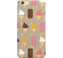 Ice cream background iPhone Case/Skin