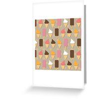 Ice cream background Greeting Card