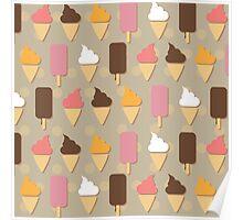 Ice cream background Poster