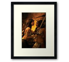 Hostile Negotiations Framed Print