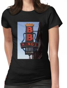 Neon Sign ~ BB Kings Blues Club Womens Fitted T-Shirt