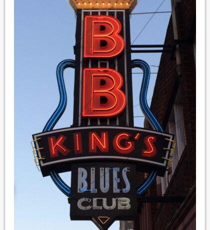 Neon Sign ~ BB Kings Blues Club Sticker