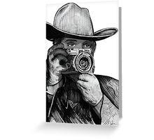 Western Rangefinder Raw Greeting Card