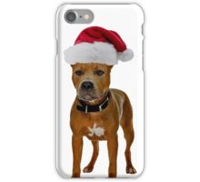 Pit Bull Santa Claus Merry Christmas iPhone Case/Skin