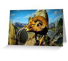 Mountain Sheep Watercolor Greeting Card