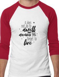 Dwell on Dreams Men's Baseball ¾ T-Shirt