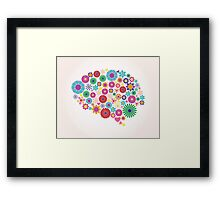 Abstract human brain, creative Framed Print
