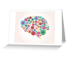 Abstract human brain, creative Greeting Card