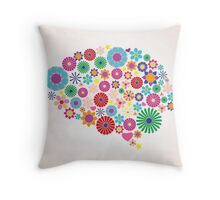 Abstract human brain, creative Throw Pillow