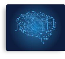 Human brain, logical thinking Canvas Print