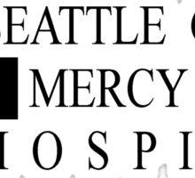 Seattle Grace Mercy West Hospital Logo - Black Sticker
