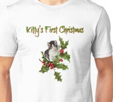 Kitty's First Christmas  Unisex T-Shirt