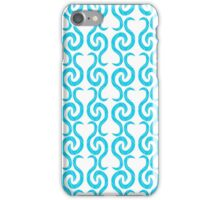 Cyan elegant pattern iPhone Case/Skin