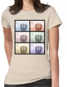 Eight Pop Art Cylinders Womens Fitted T-Shirt