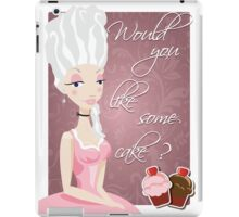 Poster with queen Marie Antoinette and cakes iPad Case/Skin