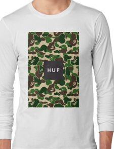 HUF Camouflaje Print Long Sleeve T-Shirt