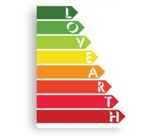 Lovearth rating Canvas Print