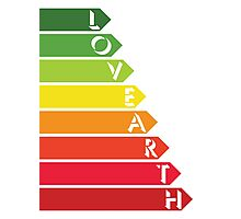 Lovearth rating Photographic Print