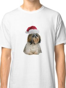 Shih Tzu Santa Claus Merry Christmas Classic T-Shirt