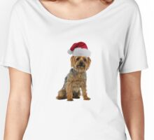 Silky Terrier Santa Claus Merry Christmas Women's Relaxed Fit T-Shirt