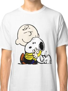 Charlie Hugs Snoopy Classic T-Shirt