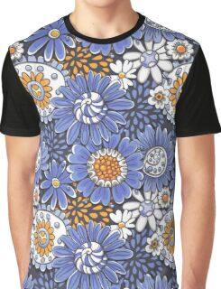 Doodled floral pattern  Graphic T-Shirt