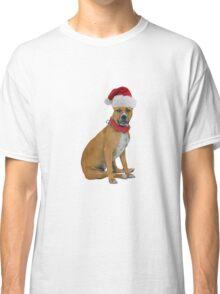 Staffordshire Bull Terrier Santa Claus Merry Christmas Classic T-Shirt