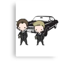 Supernatural Cartoon Dean & Sam Canvas Print