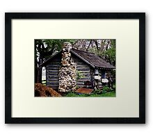 Rustic Log Cabin Framed Print