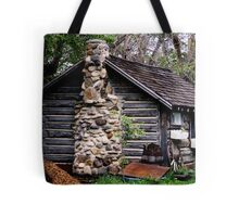Rustic Log Cabin Tote Bag