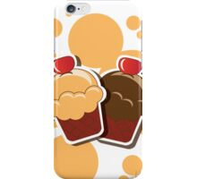 Cup cake happy birthday card with bubbles iPhone Case/Skin