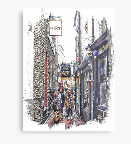 Shopping in The Lanes Brighton Metal Print