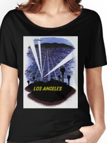 Vintage Airline Los Angeles California Travel Women's Relaxed Fit T-Shirt